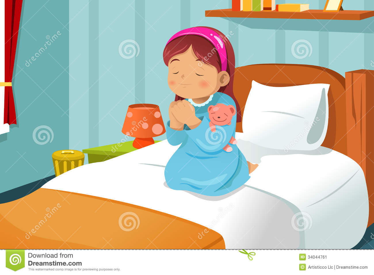 hight resolution of go to bed clipart girl 6