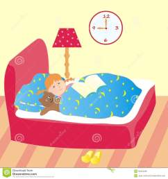 go to bed clipart girl [ 1300 x 1390 Pixel ]