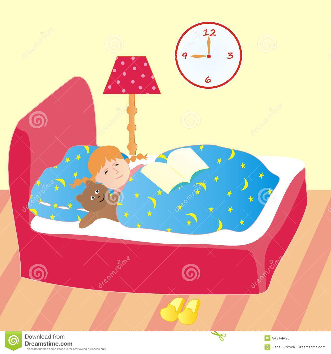 hight resolution of go to bed clipart girl