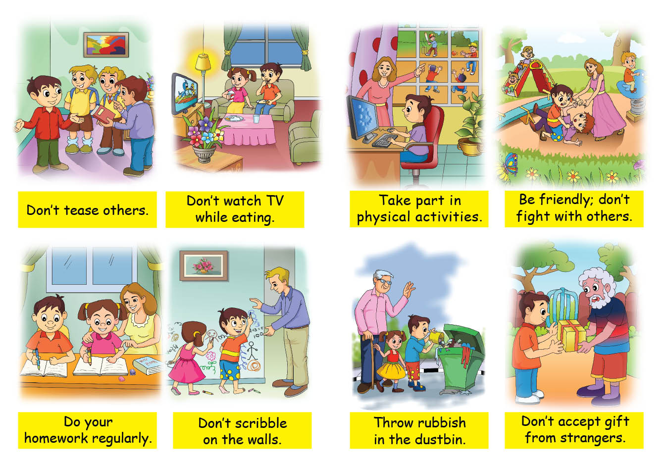Good Habits For Kids Clipart 6