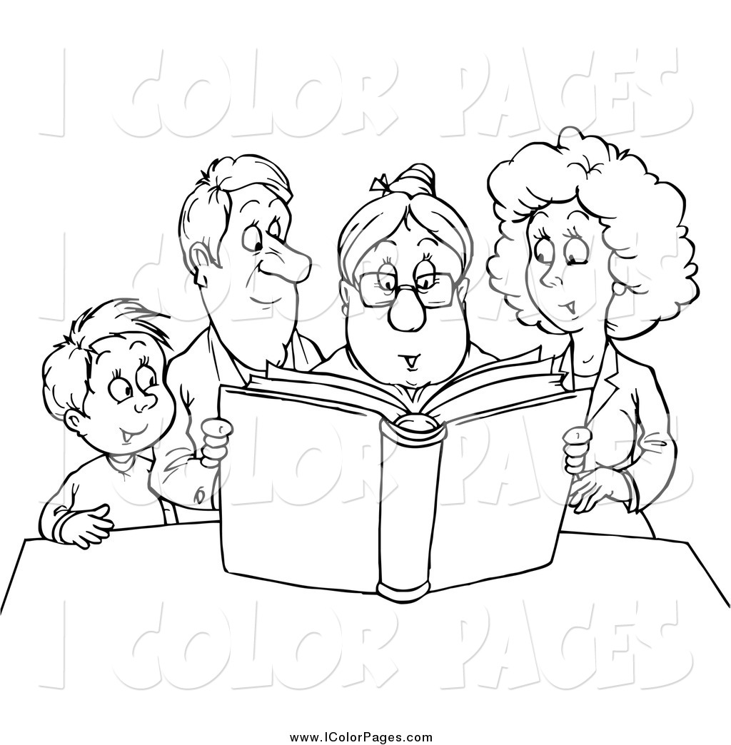 Grandparents Clipart Black And White 8