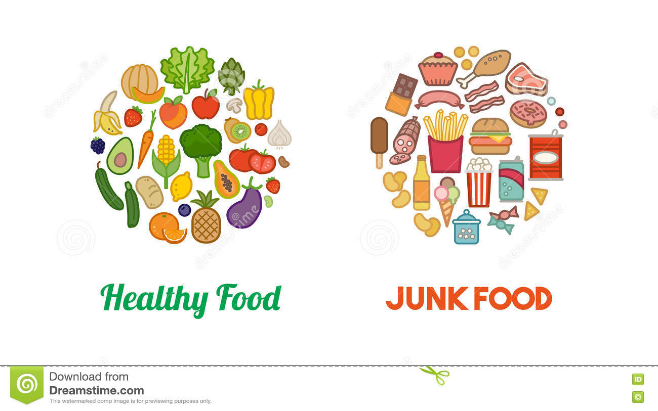 Healthy Food Vs Junk Food Clipart 9 Clipart Station
