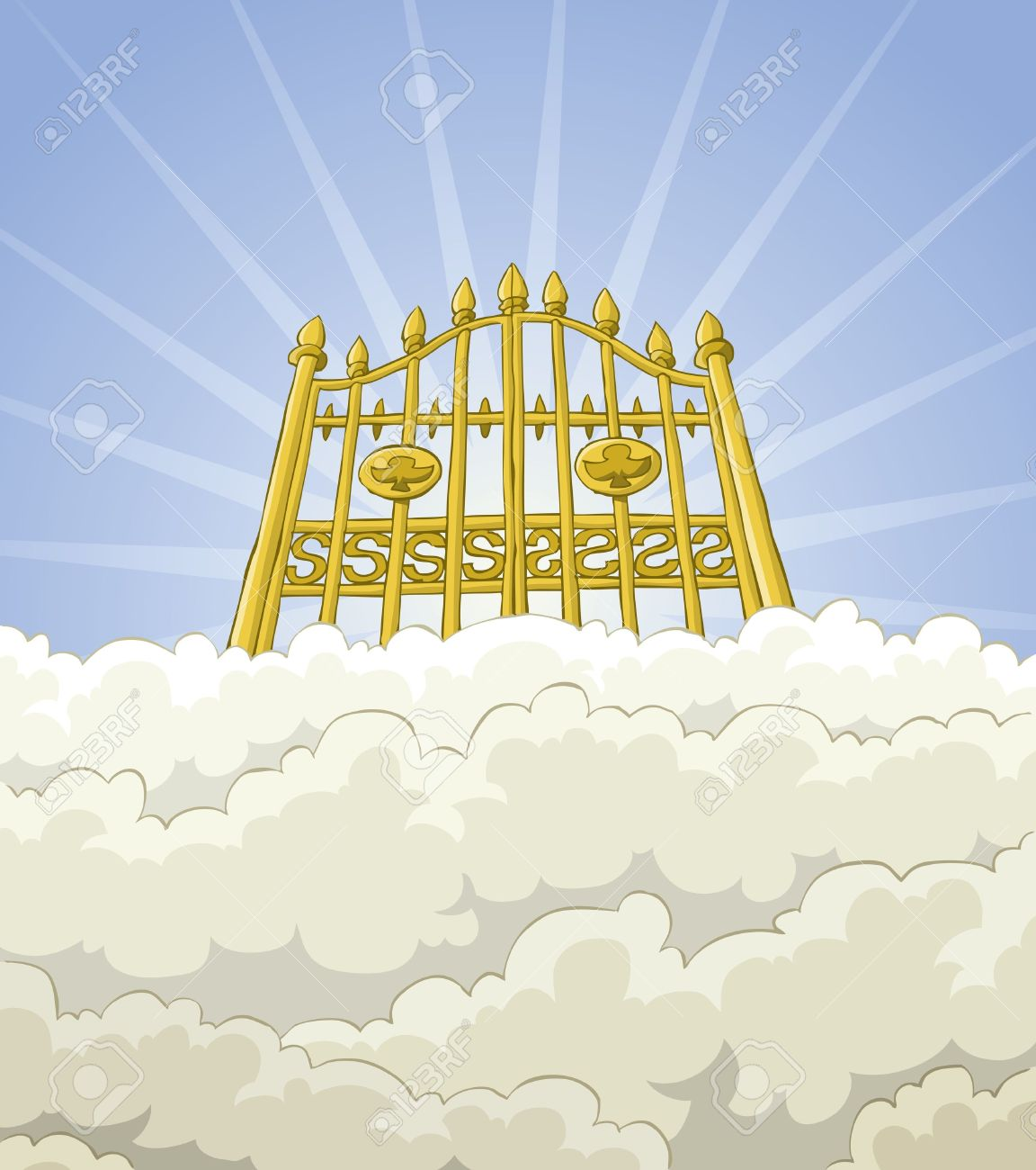 hight resolution of heaven clipart 3