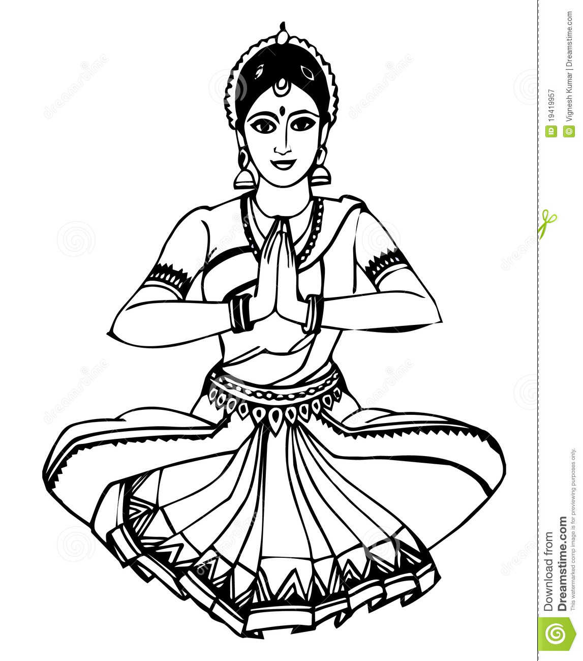 Indian Classical Dance Bharatanatyam Clipart 13 Clipart Station