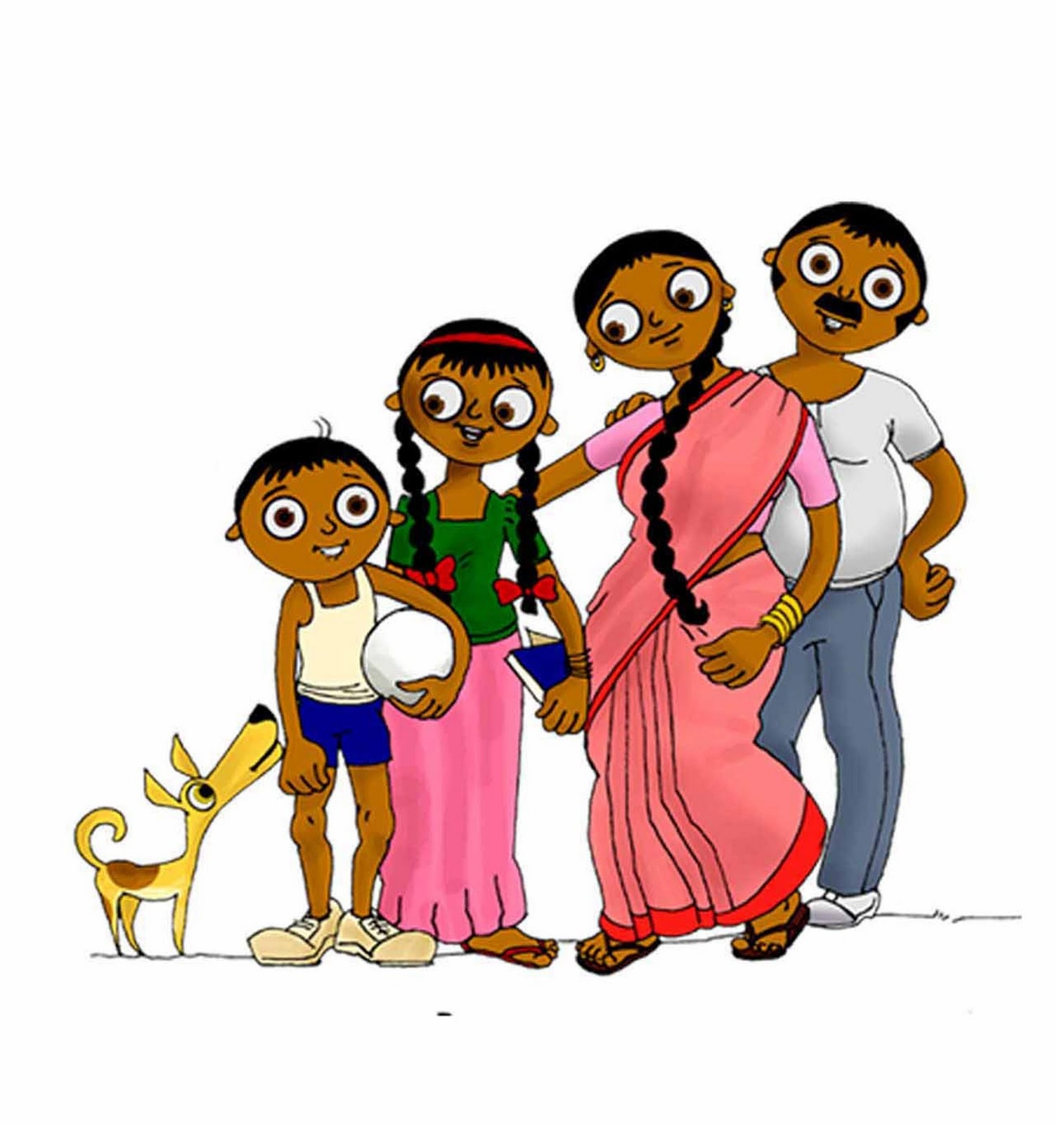 hight resolution of indian family clipart 8