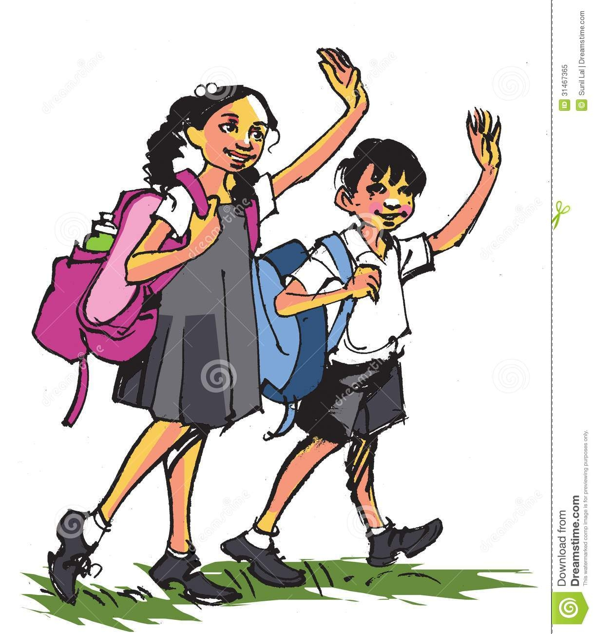 hight resolution of indian school student clipart 11