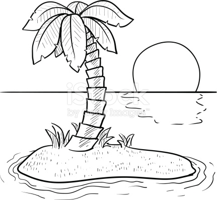 Island clipart black and white 2 » Clipart Station