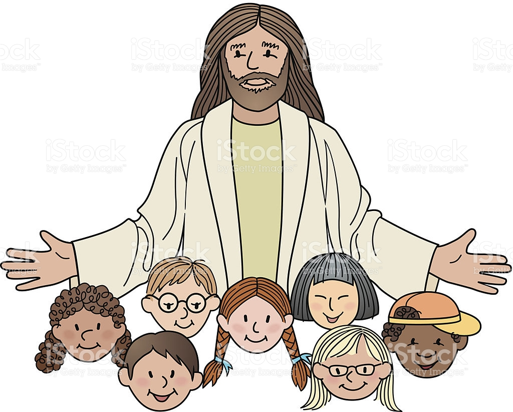 hight resolution of jesus with children clipart 5