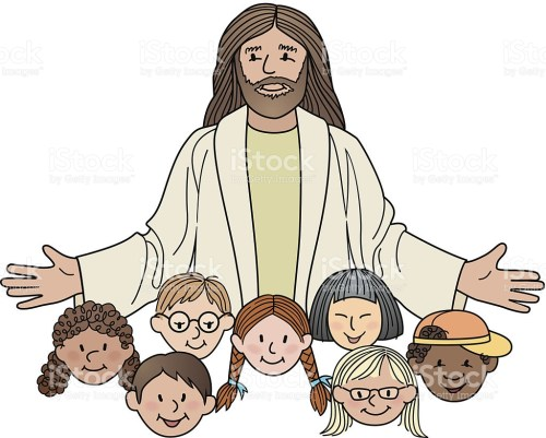 small resolution of jesus with children clipart 5