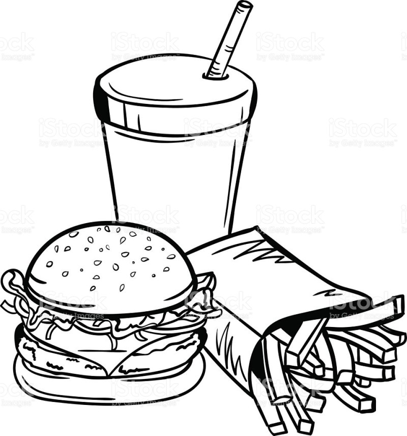 Junk Food Clipart Black And White 6 Station