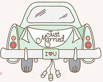 Just married auto clipart 13  Clipart Station