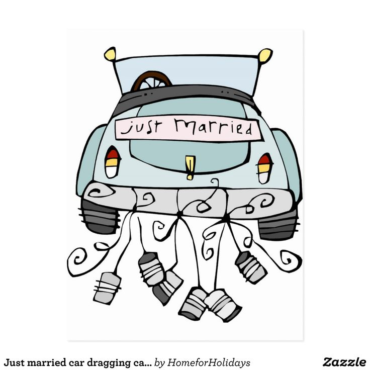 Just married auto clipart 2  Clipart Station