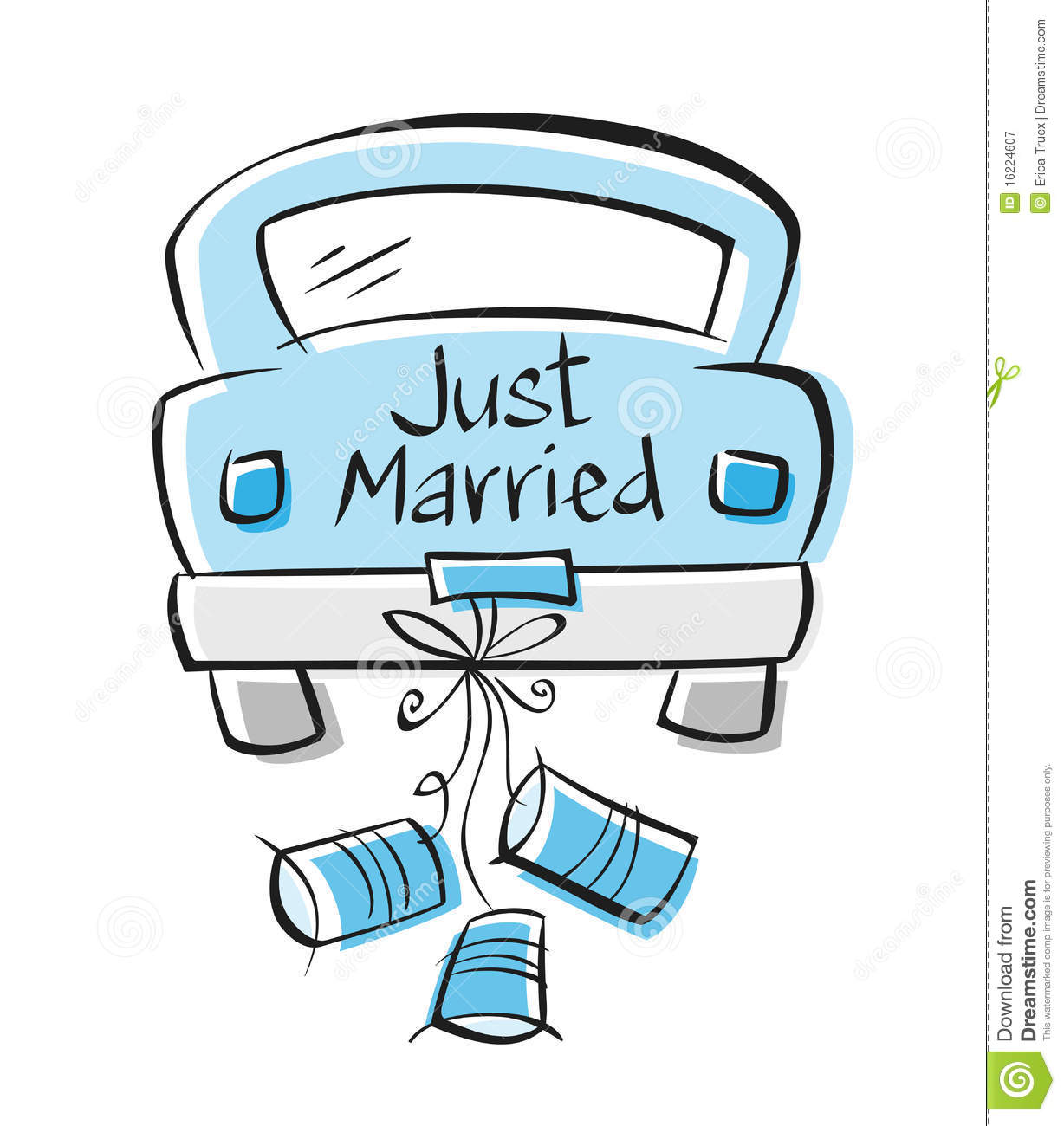 Just married auto clipart 6  Clipart Station