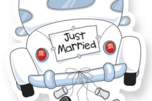 Just married auto clipart 3  Clipart Station