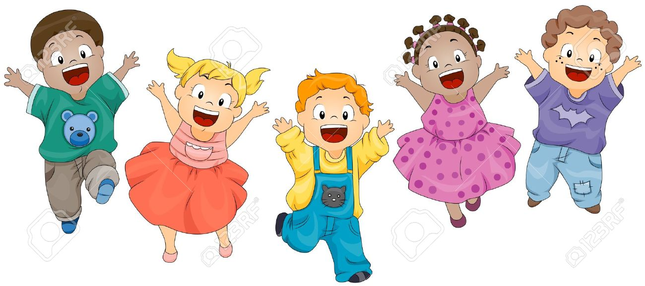 Cute Toddlers Playing Cartoon Wallpaper Kids Jumping Clipart 1 187 Clipart Station