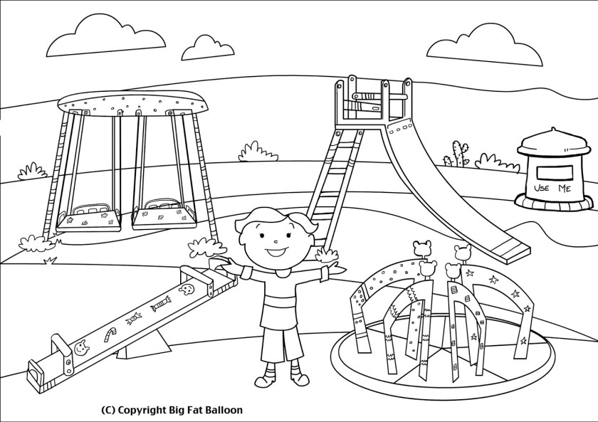 kids on playground clipart black and white 10 » clipart