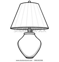 lamp clipart black and white 2