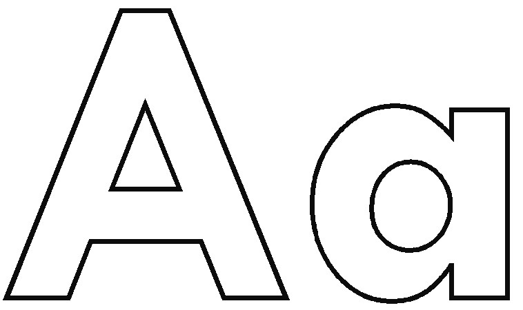 Letter a clipart black and white 2 » Clipart Station