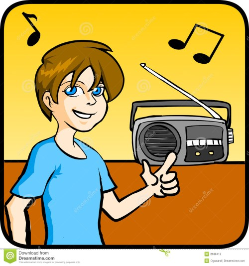 small resolution of listening to radio clipart 7