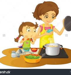 mother cooking clipart 3 [ 1500 x 1225 Pixel ]