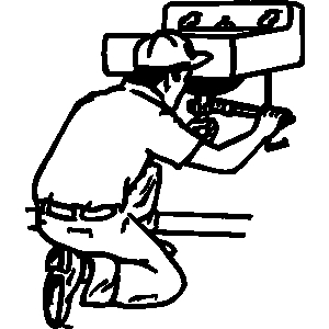 Plumber clipart black and white 1 » Clipart Station