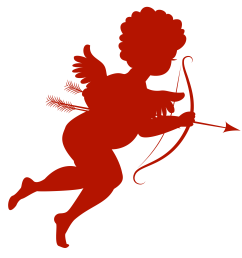 red cupid clipart [ 2181 x 2292 Pixel ]