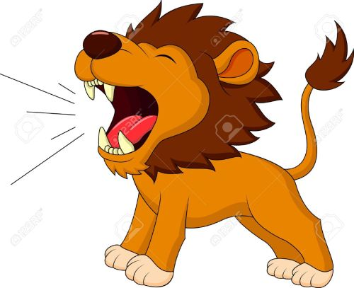 small resolution of roaring lion clipart 6