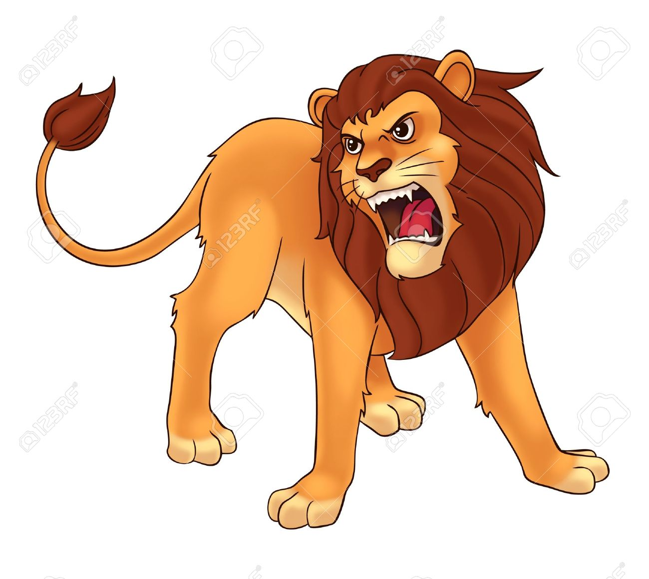 hight resolution of roaring lion clipart 9