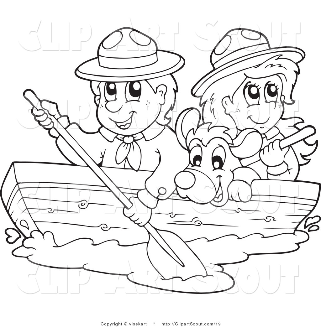 Row Boat Clipart Black And White 3 Clipart Station