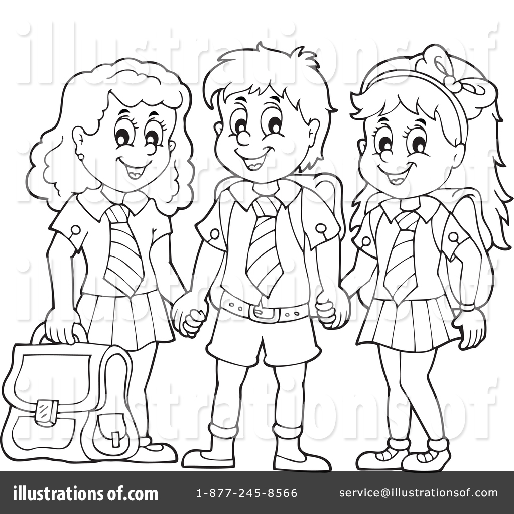 School Uniform Clipart Black And White 1 Clipart Station