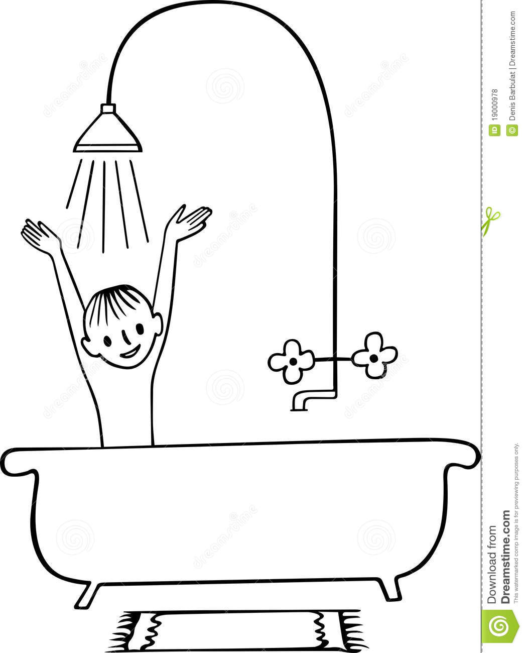 Shower Clipart Black And White 5 Clipart Station