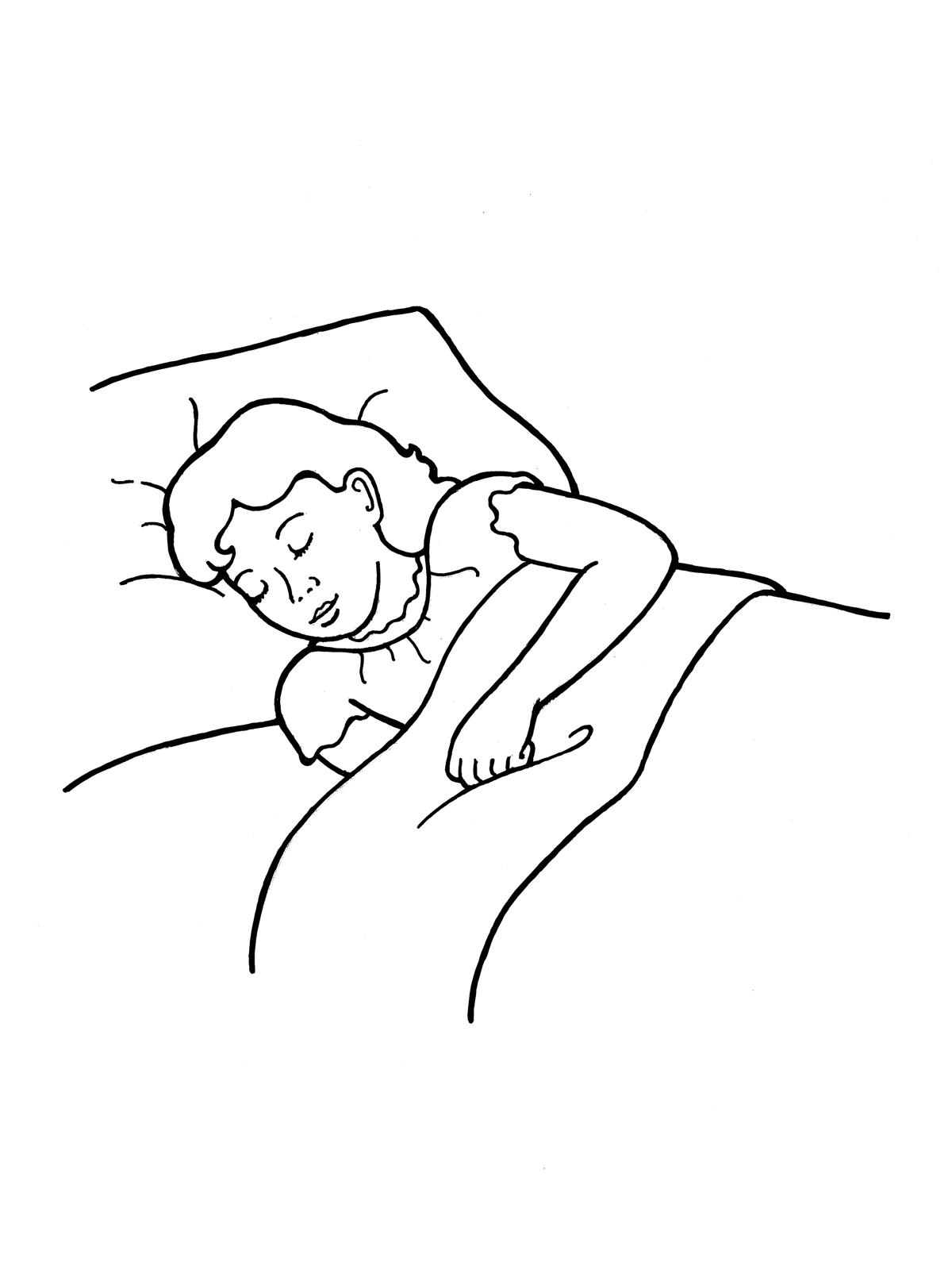 Sleeping Clipart Black And White 3 Clipart Station
