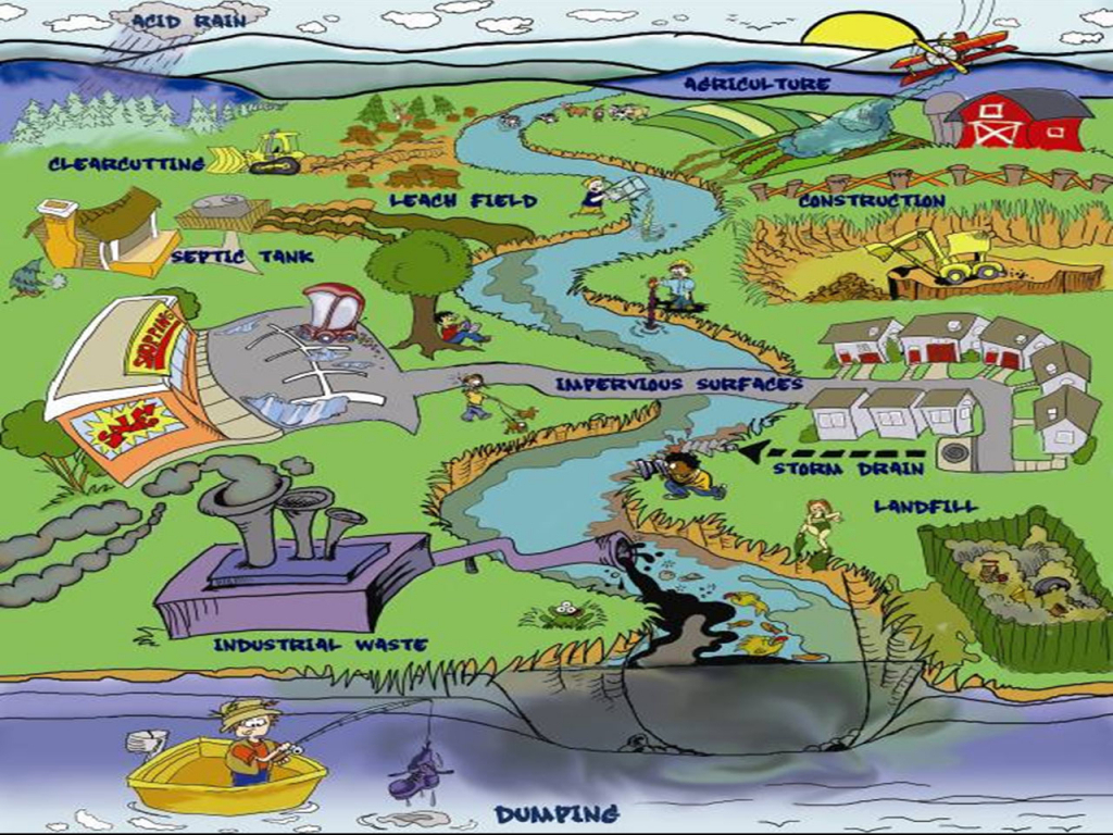 Animated Land Pollution Diagram Animated Land Pollution