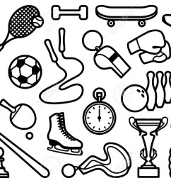 sports clipart black and white 6 [ 1300 x 924 Pixel ]