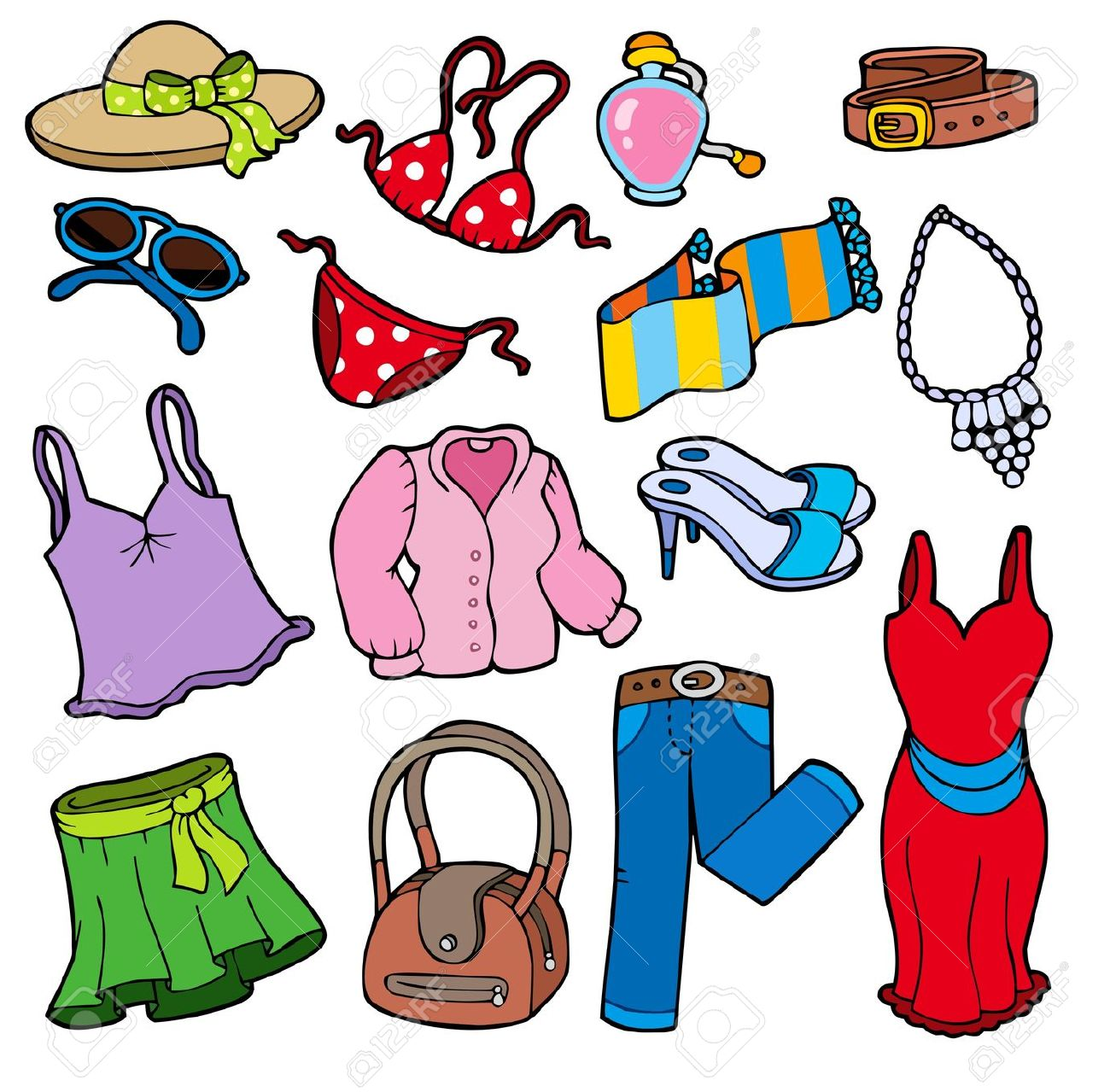 Summer Season Clothes Clipart 12 Clipart Station