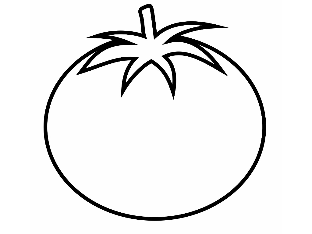 Tomato Clipart Black And White 3