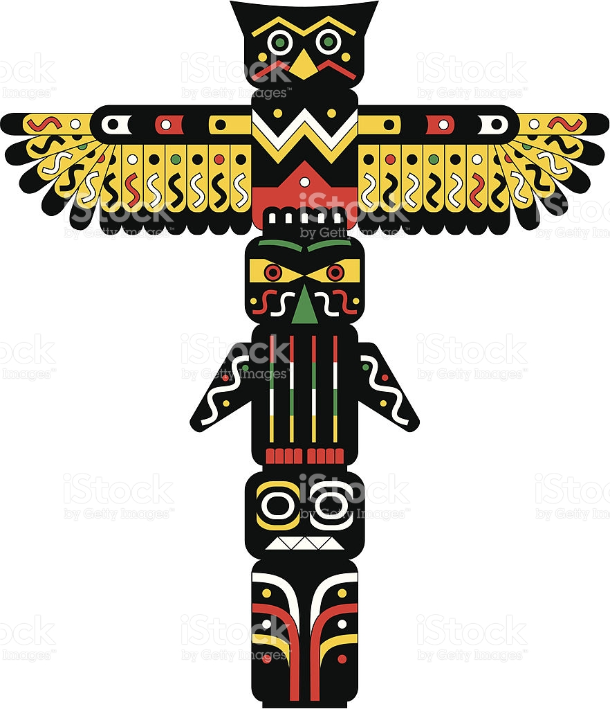 hight resolution of totem pole clipart 4