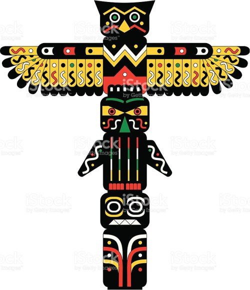 small resolution of totem pole clipart 4
