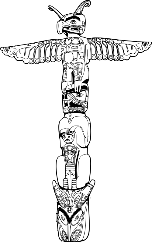 small resolution of totem pole clipart