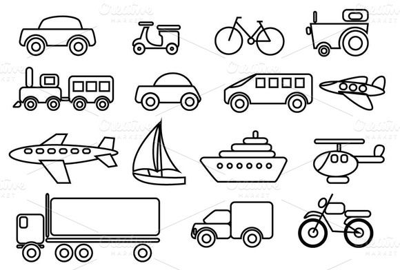 Transportation clipart black and white 1 » Clipart Station