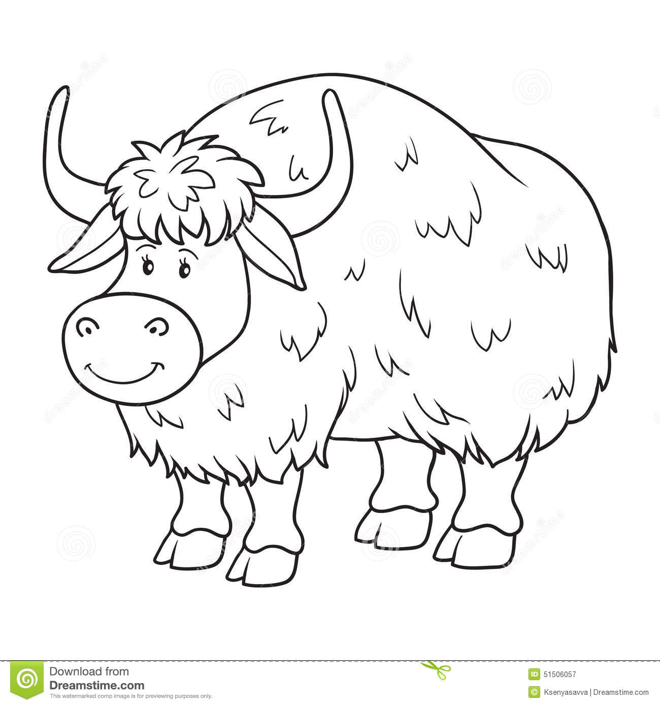 Yak Clipart Black And White 10 Clipart Station