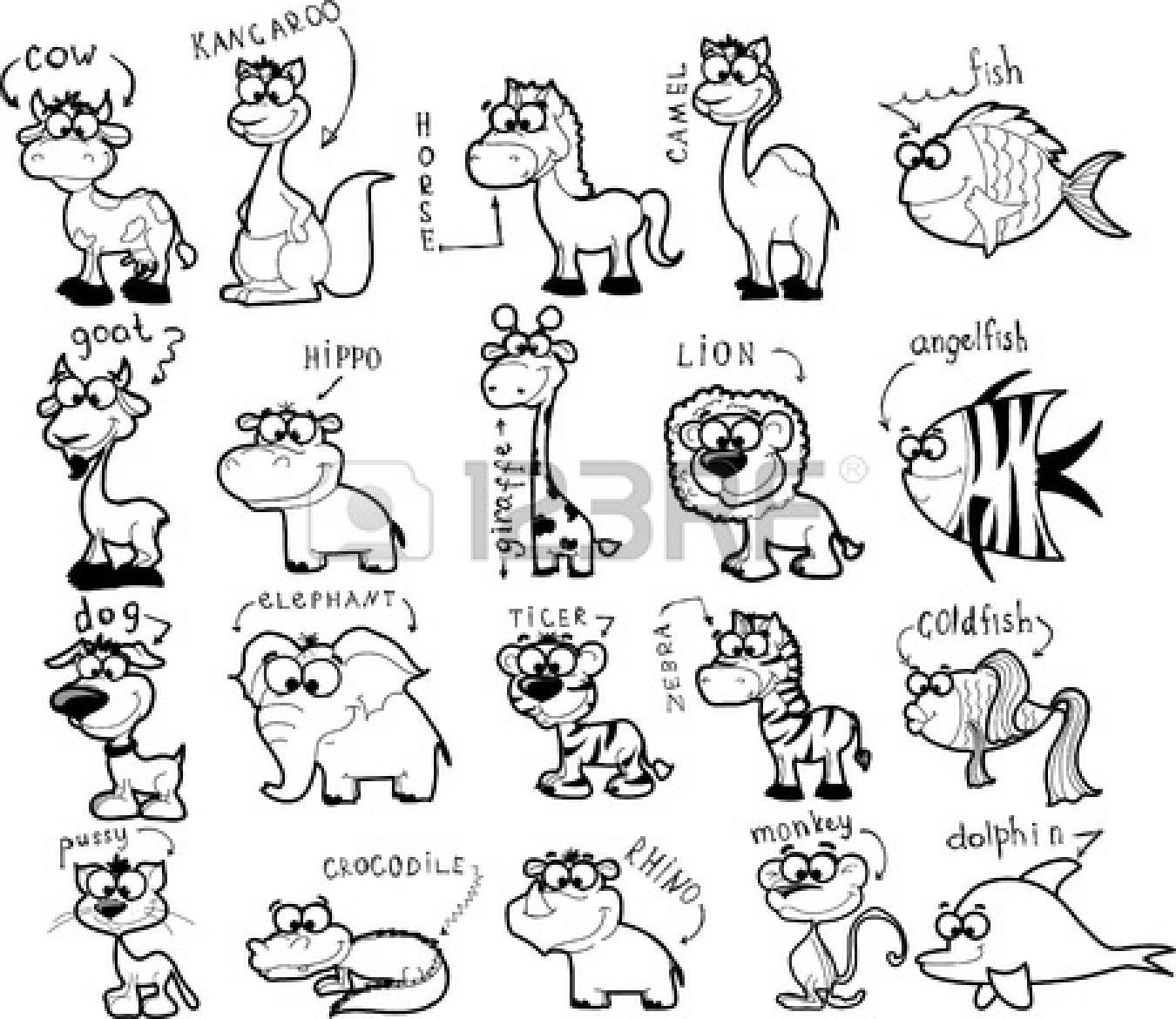 Zoo Animals Clipart Black And White 9 Clipart Station