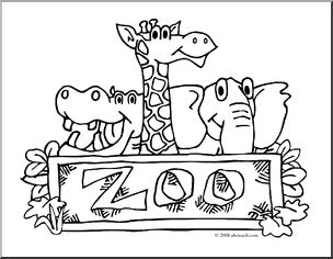 Zoo clipart black and white 4 » Clipart Station
