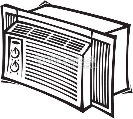 aircon clipart black and