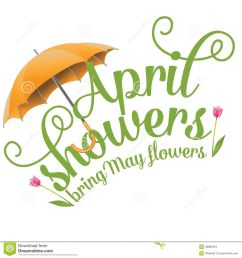 april showers bring may flowers free clipart 2 [ 1300 x 1390 Pixel ]