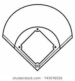 Baseball field clipart black and white 5 » Clipart Station