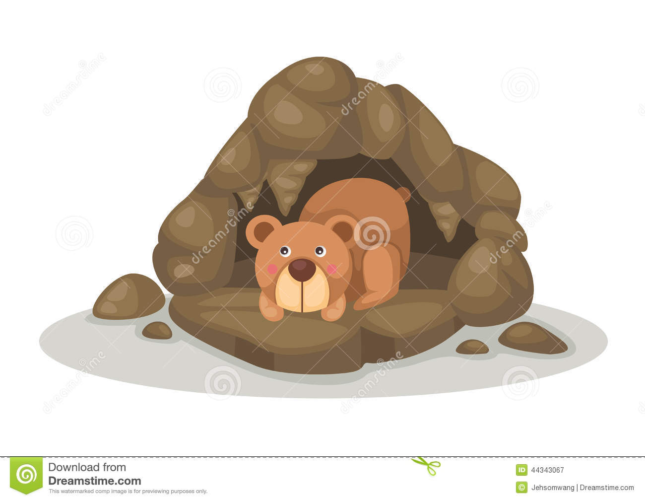 hight resolution of bear cave clipart 1