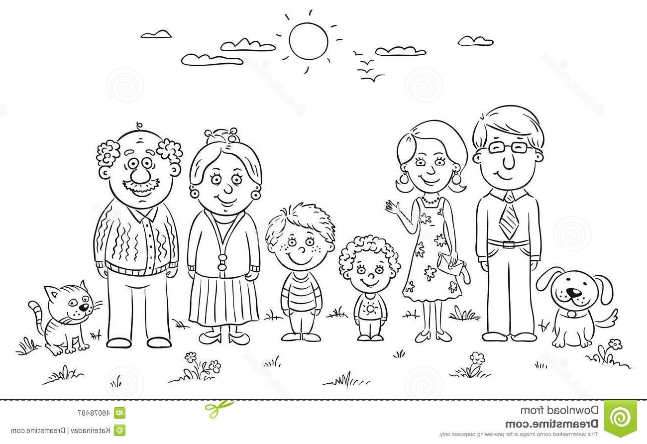 Black And White Family Clipart 3 Clipart Station