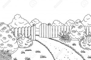 Black and white garden clipart 5 Clipart Station