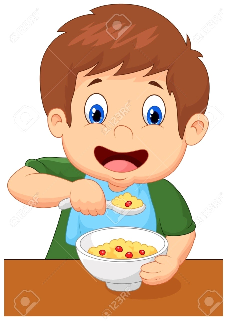 hight resolution of boy eating breakfast clipart 3